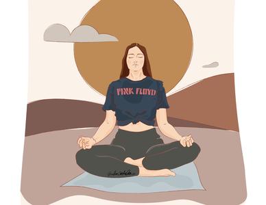 Soften in distress✨ mindfulness emotions meditation yoga pose yin yoga ui design drawings morning routine adobe illustrator illustration art illustration digital illustration