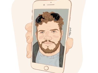Thank you Facetime📱💛 videocall homepage quaratine iphone facetime love painting visual art drawings adobe illustrator illustration art illustration digital illustration