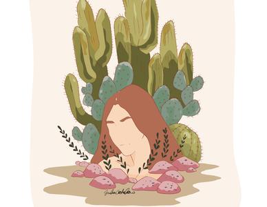 A Place Inside My Head head cactus plants visual art sicily drawings adobe illustrator illustration art illustration digital illustration