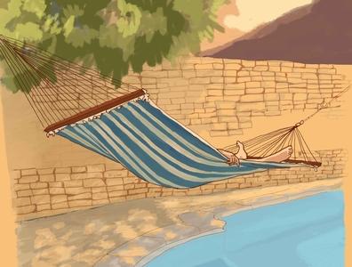 Staycation '20 staycation holidays poolside garden home morning routine morning sicily visual art adobe photoshop illustration art illustration digital illustration