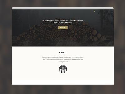 Responsive Portfolio - Keeg.in portfolio minimal responsive website