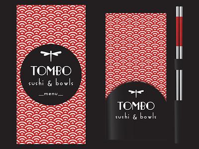 Tombo – Sushi & Bowls / Menu & Table Set sushi sushi logo restaurant branding restaurant logo restaurant branding branding concept logo