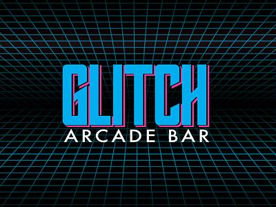 GLITCH - Arcade Bar brand identity brand branding design branding arcade game arcade logo design logo bar gaming 90s 80s design vector illustration vector illustration