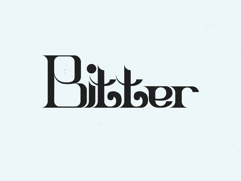 """Bitter"" type lettering logo graphic design graphicdesign design cartoon food calligraphy"