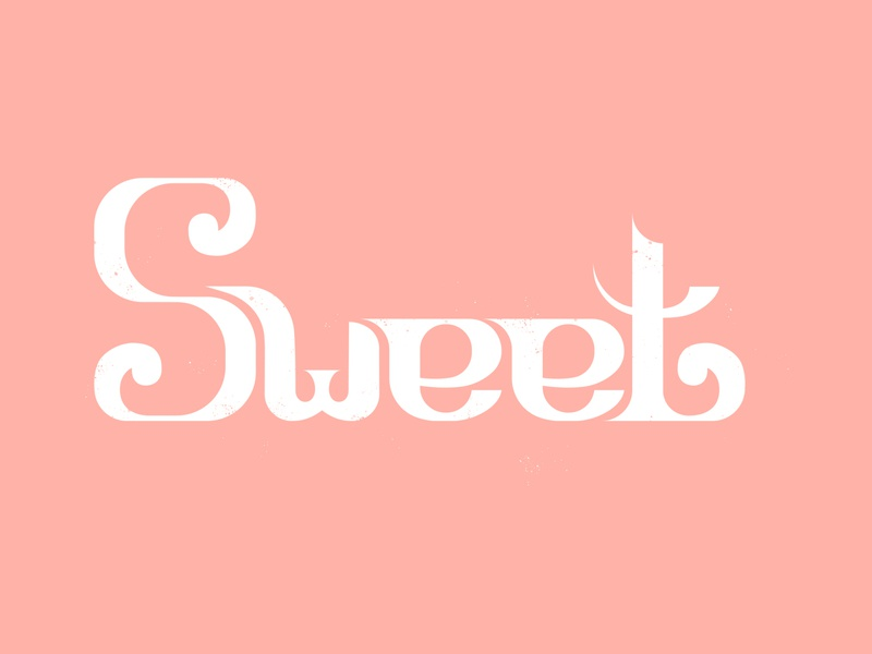 Sweet logo type lettering illustration calligraphy graphic design graphicdesign design art