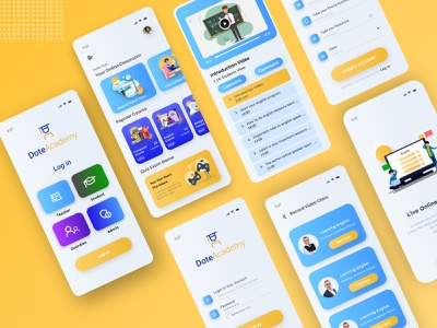 E-learning Educational App UI/UX Design mobile ui e class classes online classroom online class classroom app ui ux app ux online e-learning online education learning app educational education ux research uidesign app design e learning e-learning education app mobile app
