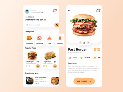 Food App Design foodie clean food illustration website concept mobile ui mobile app design branding ui app design agency login page landing page web design mobile app delivery food app