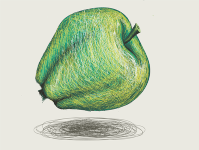 der Apfel für Aschenputtel branding design vector illustration