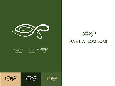 LOMILOMI massage ideas idea therapie lomilomi hawaii massage turtle typography graphicdesign graphic kunstwerk kunst art branding minimal vector design logo