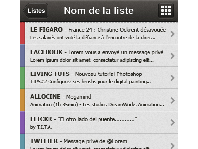RSS & Social Network application iphone