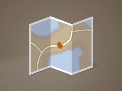 Simple Map Icon map icon