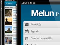 Melun mobile webapp