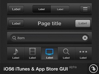 iOS6 iTunes & App Store GUI - FreePSD