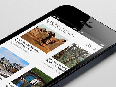 Lasts news - mobile theme mobile webapp metro interface ui