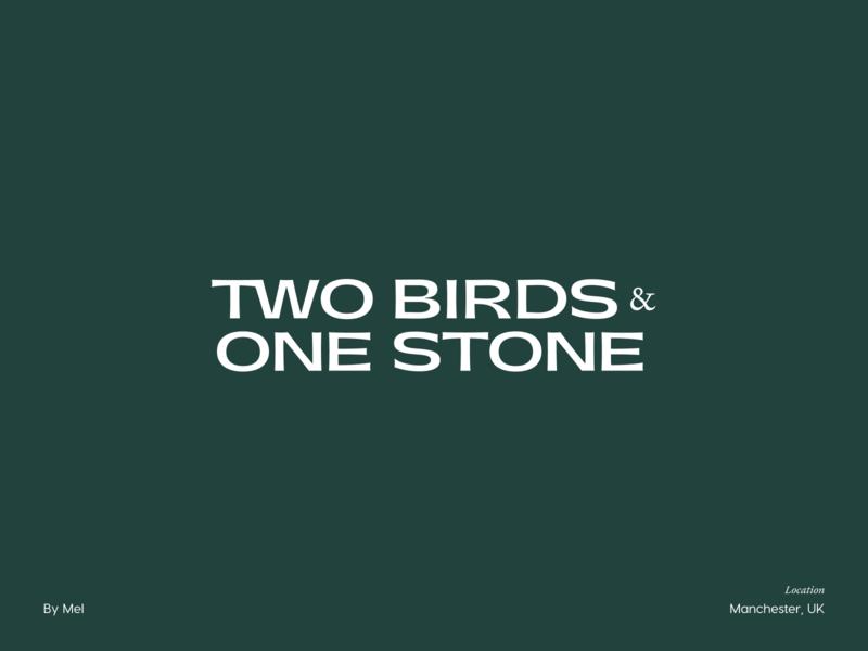 Two Birds — Branding brand mark stamp illustrator flat vector typography illustration logo branding minimal design