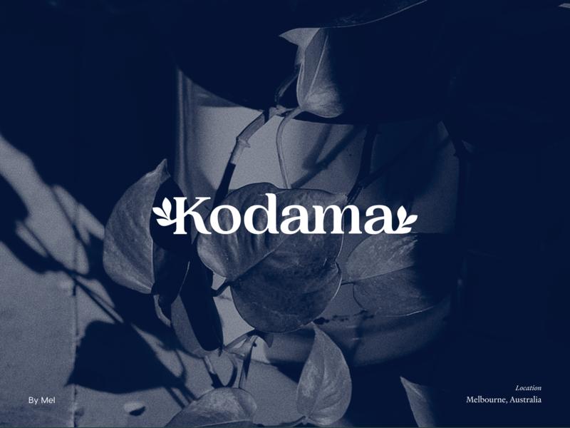 Kodama — Branding branding concept blue australia melbourne hand drawn procreate plant logo circle logo mark brand brand identity botanical plant vector logo illustration typography branding minimal design