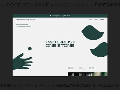 Two Birds — Concept vector illustration website web ux ui logo typography minimal design