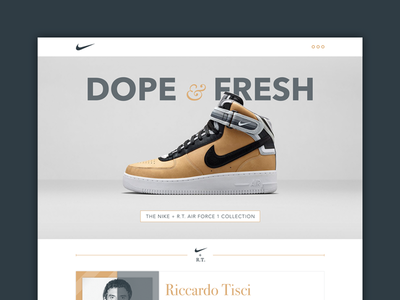 Dope & Fresh web clean nike icons icon user ux ui interface flat sneakers