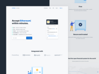 New Coinbase Commerce landing page