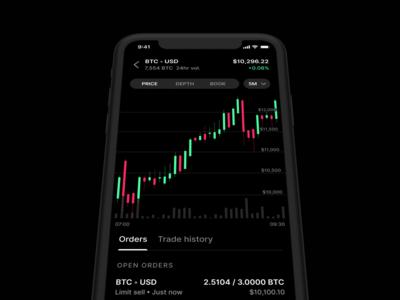 Coinbase Pro iOS app
