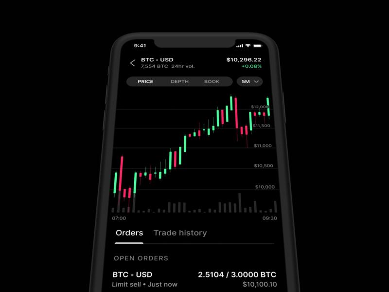 Coinbase Pro iOS app coinbase cryptocurrency bitcoin trading app