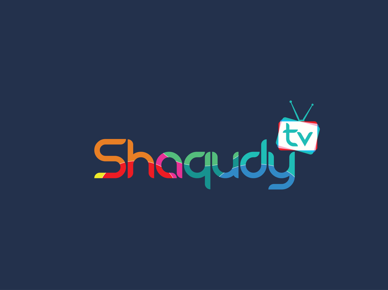 Shaqudy Tv logo modern logo logo minimal online tv tv app funny logo colorful icons design vector typography tv logo