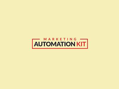 Marketing Automation kit logo design typography icon branding logo modern best logo design motion branding and identity logo kit modern colorful illustration vector minimal marketing logo
