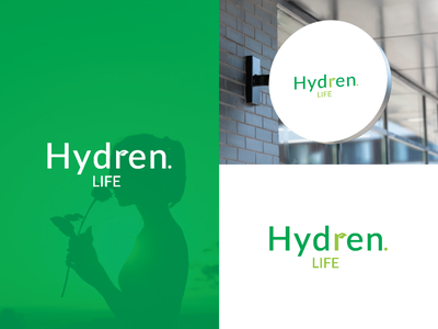 Hydren life logo design best logo design logo animation 3d vector branding colorful minimal modern logo art graphic design green gardenlogo hydrenlife