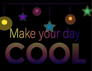 Make your day COOL font design fonts font design flat kammerel vector flat illustration illustration