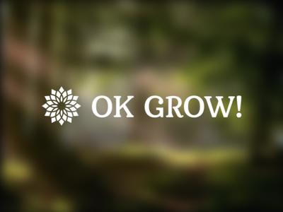 OK GROW! type brand branding type typography green white white text logo mark serif mashup grow elegant icon