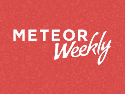 Meteor Weekly space red logo meteor