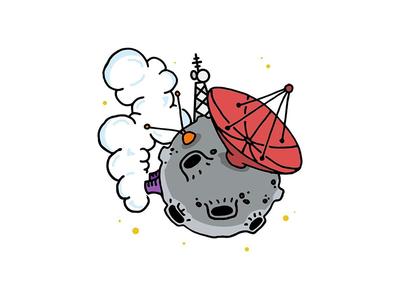 Space Radio Satellite satellite radio cartoon space meteor