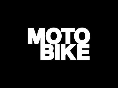 MOTO BIKE simple font type black