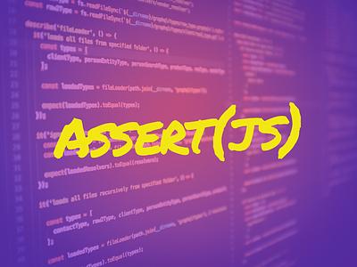 Assert(JS) yellow purple felt marker 80s outrun