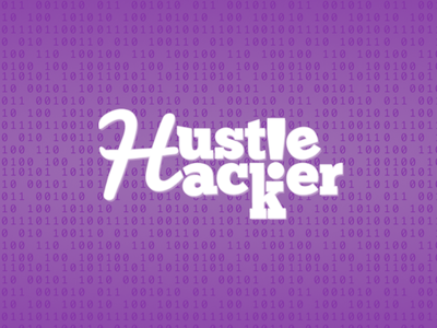 Hustle Hacker exclamation serif bites bits purple code fun hacker hustle proud
