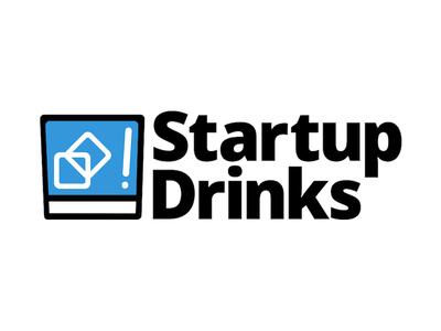 Startup Drinks simple logo cocktail drink