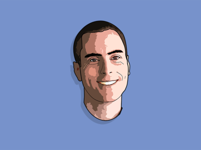 Paul portrait cutout poster cartoon