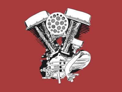 The Panhead sketch engine harley davidson harley panhead motorcycle
