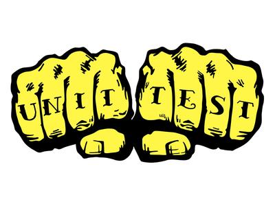 Testing is Life. comic comic art pop sticker tattoo knuckles testing nerd test unit