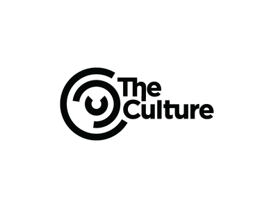 The Culture blackandwhite connected clock ccc cc c rings logo