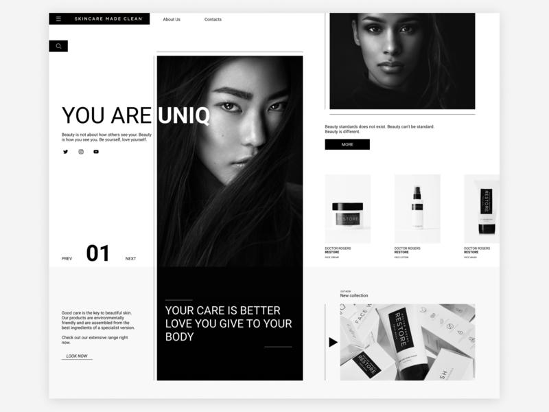 Doctor Rogers website web minimal ux ui design