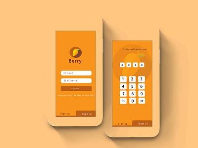 Day 1: Sign Up Form minimal ui icon app ux design illustration