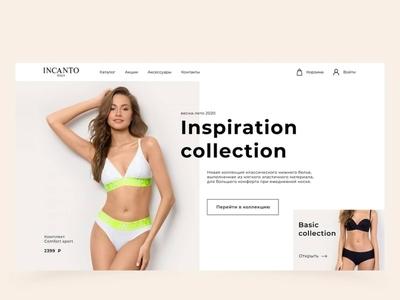 The concept of the lingerie store web ui design lingerie concept