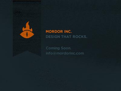 Mordor Inc. logo black orange