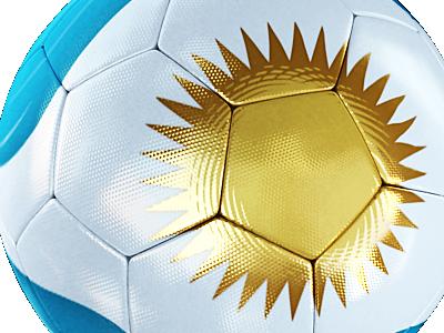 Ball design football soccer sports argentina white