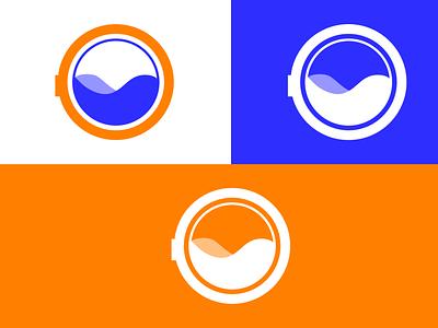 Washing Machine Logo branding icon logo design washing machine logo