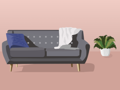 Couch figma digital illustration interior decor interior interior design interiordesign plant couch