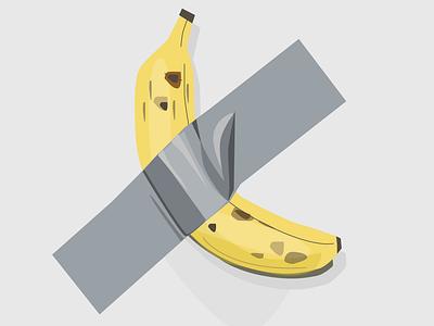 Banana Taped to Wall figma digital illustrations digital art digital illustration banana taped to wall tape banana