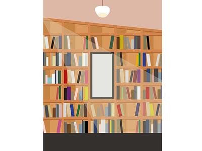 Book Shelf Illustration illustration digital illustration design digital illustration art illustration graphic illustration graphic designer graphic design library graphic design library bookshelf bookstore bookshop books