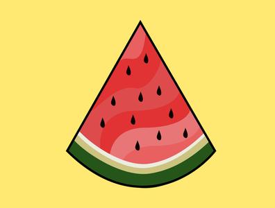 Watermelon Graphic Illustration summer figma svg summer cartoon watermelon graphicdesign illustrator graphic illustrator illustration graphic design vector illustration vectorart graphic illustration